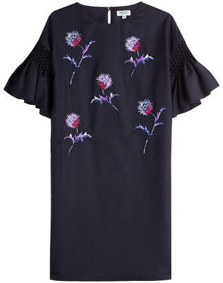 Kenzo Embroidered Wool Dress