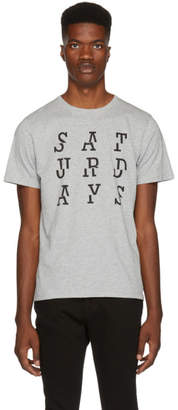 Saturdays NYC Grey Saturdays Split T-Shirt