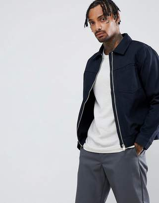 Weekday core zip jacket in navy