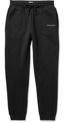 Vetements Panelled Loopback Cotton-Blend Jersey Sweatpants $770 thestylecure.com