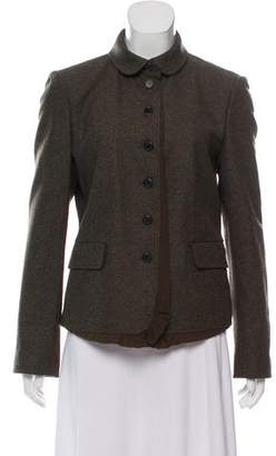 DKNY Wool Button-Up Jacket