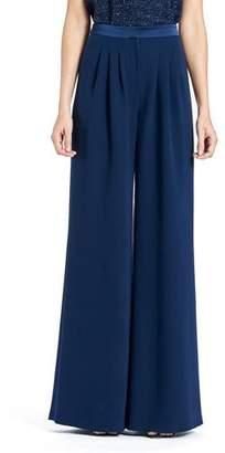 Carolina Herrera Wide-Leg Double-Face Georgette Silk Pants