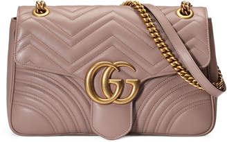 e94acd5b6051 Gg Marmont Medium Leather Shoulder Bag - ShopStyle