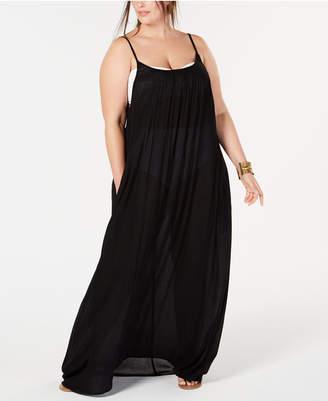 Raviya Plus Size Lace-Trim Maxi Cover-Up