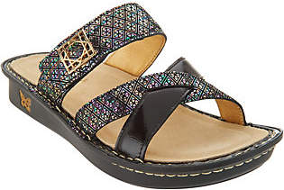 Alegria Leather Multi-Strap Slide Sandals -Victoriah