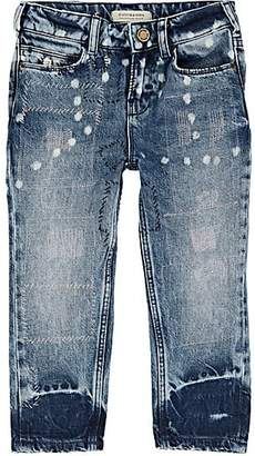 Scotch R'Belle KIDS' TOPSTITCHED DISTRESSED JEANS - BLUE SIZE 4 YRS