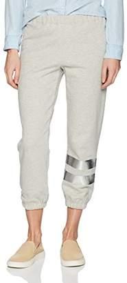 Wilt Women's Silver Foil Leg Stripe Old School Jogger