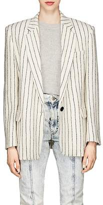 Isabel Marant Women's Elder Striped Compact Wool-Linen Tweed Blazer
