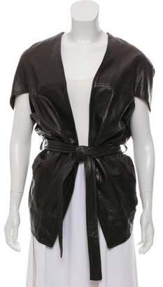 Zero Maria Cornejo Short Sleeve Leather Jacket