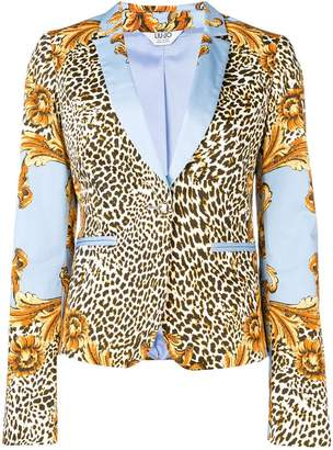 Liu Jo contrast print blazer