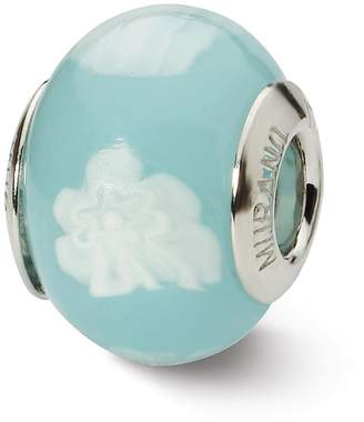 Murano ICE CARATS hite Italian Bead Glas Fine Jewelry Ideal Gifts For Women Gift Set From Heart