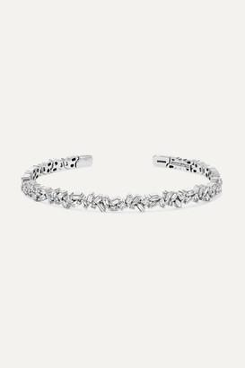 Suzanne Kalan 18-karat White Gold Diamond Cuff