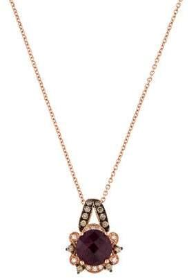 Le Vian 14K Rhodolite & Diamond Pendant Necklace $1,245 thestylecure.com