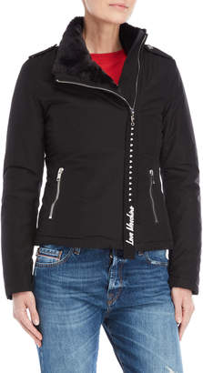 Love Moschino Faux Fur-Lined Asymmetrical Jacket