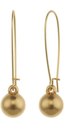 Liz Claiborne Gold-Tone Ball Drop Earrings