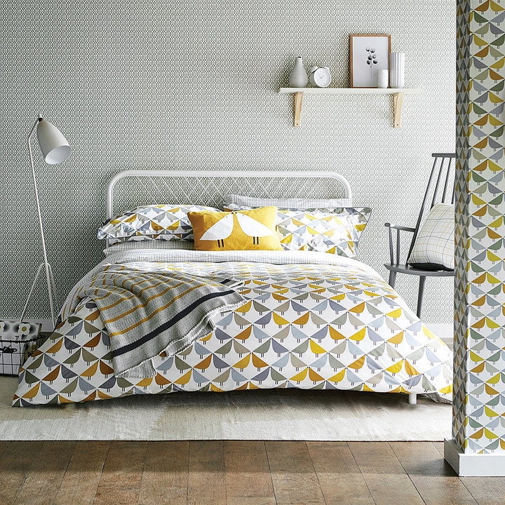 Scion - Lintu Duvet Cover - Dandelion & Pebble - Double