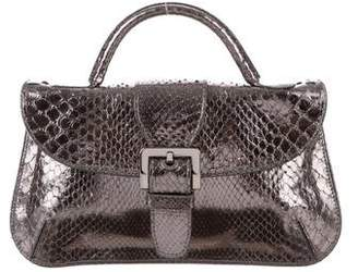 Tod's Metallic Snakeskin Bag