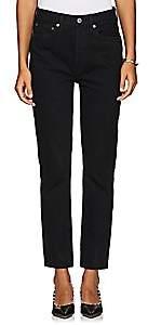 RE/DONE Women's Double Needle Crop Jeans-Black