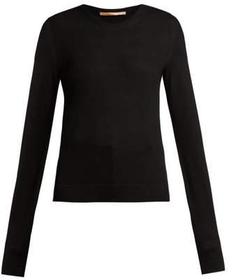 Summa - Round Neck Cashmere Sweater - Womens - Black