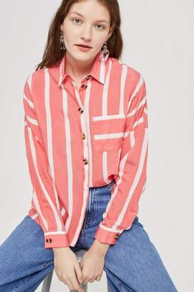 Topshop Wide Striped Shirt
