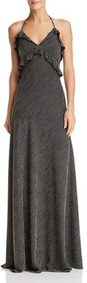 Jill Stuart Striped Halter Gown