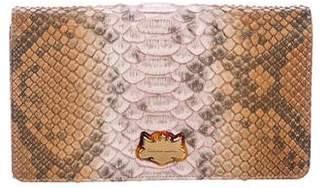 Christian Lacroix Python Tri-Fold Wallet