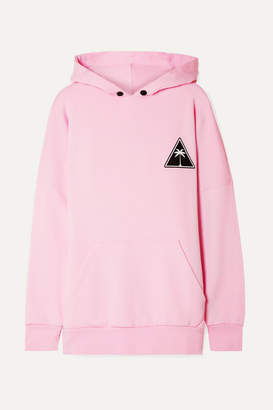 Palm Angels Printed Cotton-jersey Hooded Top - Baby pink