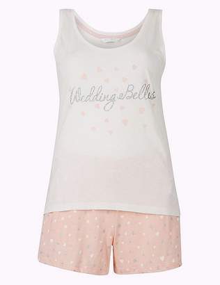Marks and Spencer Bridesmaid Printed Short Pyjama Set