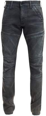 G Star Raw Distressed Ribbed Skinny Jeans