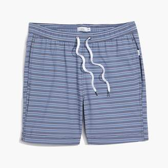 "J.Crew Onia Charles 7"" swim trunks in denim stripe"
