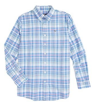 Boy's Vineyard Vines Brightwaters Plaid Woven Shirt $45 thestylecure.com