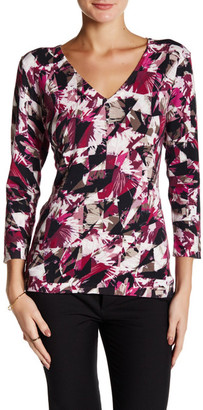 Laundry By Shelli Segal Prism Printed V-Neck Sweater $34.97 thestylecure.com