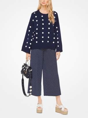 MICHAEL Michael Kors Polka Dot Cotton Oversized Pullover