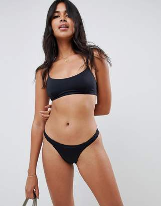 Asos Design DESIGN recycled mix and match tab side tanga bikini bottom