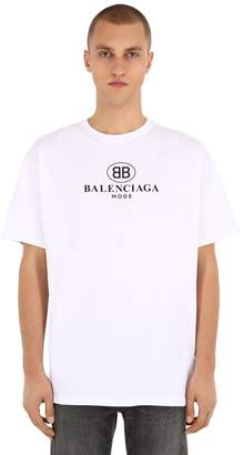 Balenciaga Mode Logo Cotton Jersey T-Shirt