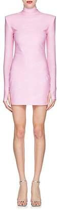 Versace Women's Logo-Print Turtleneck Minidress - Pink