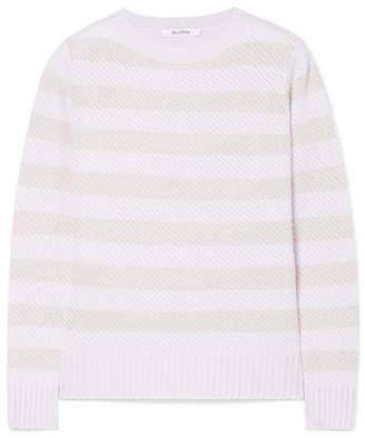 Max Mara Ulisse Striped Cashmere Sweater - Beige