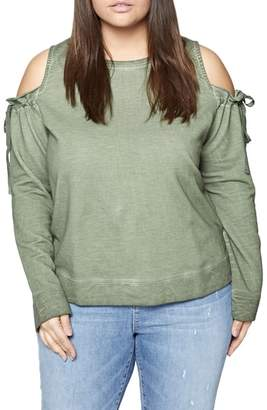 Sanctuary Parkside Cold Shoulder Sweatshirt