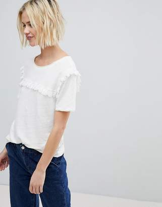 Suncoo T-Shirt With Ruffle Front