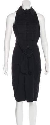 Saint Laurent Sleeveless Midi Dress w/ Tags