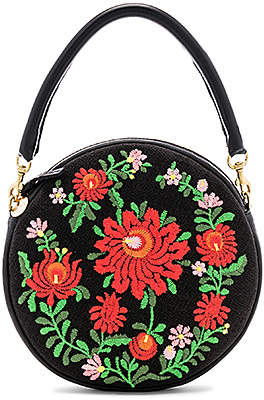 Clare Vivier Mexican Embroidered Circle Bag