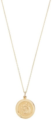 Lily & Roo Small round Solid Gold St Christopher Pendant Necklace