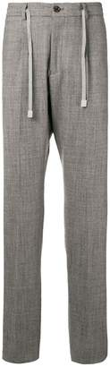 Eleventy tailored drawstring trousers