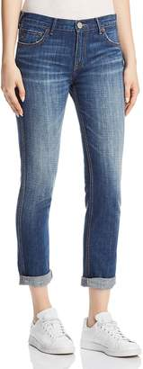 True Religion Cameron Caballo Flap Boyfriend Jeans in Vintage Hard Press