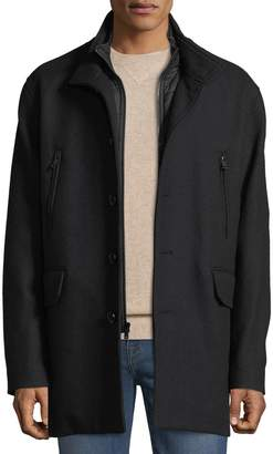 Cole Haan Men's Wool-Twill Nylon-Bibbed Jacket