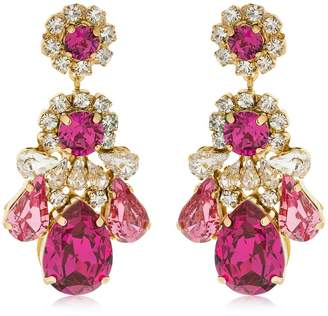 Shourouk Ds Fuchsia Earrings