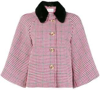 RED Valentino checkered print cape jacket