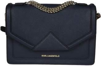 Karl Lagerfeld Classic Leather Binder Shoulder Bag