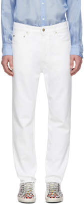 Golden Goose White Happy Jeans