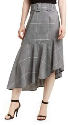 Romeo + Juliet Women's Plaid Asymmetric Skirt